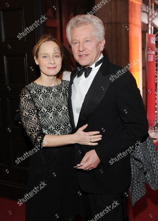 German Actor Miroslav Nemec and His Wife Katrin Arrive For the Bavarian Film Awards Ceremony at the Prinzregententheater in Munich Germany 16 January 2015 Germany Munich