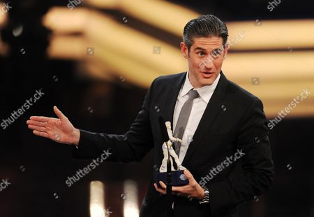 Filmmaker Nadav Schirman Receives the Best Documentary Film Award For 'The Green Prince' During the Bavarian Film Awards Ceremony at the Prinzregententheater in Munich Germany 16 January 2015 Germany Munich