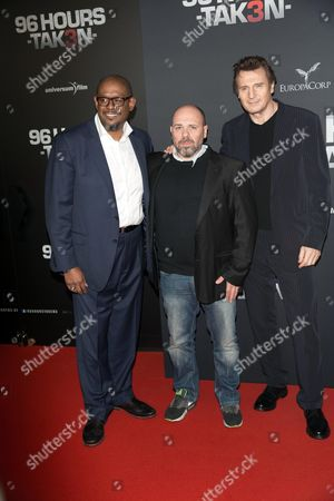 (r-l) Irish Actor/cast Member Liam Neeson French Director Olivier Megaton and Us Actor/cast Member Forest Whitaker Arrive For the Premiere of '96 Hours - Taken 3' in Berlin Germany 16 December 2014 the Movie Opens Across German Theaters on 08 January 2015 Germany Berlin