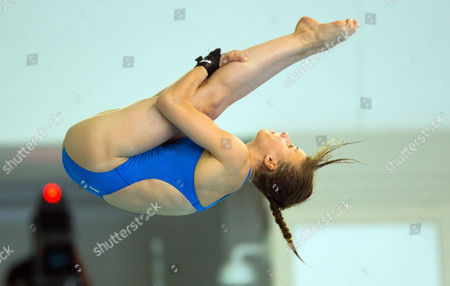 France's Laura Marino in Action During the Women's Platform Final of the European Diving Championships in Rostock Germany 10 June 2015 Germany Rostock
