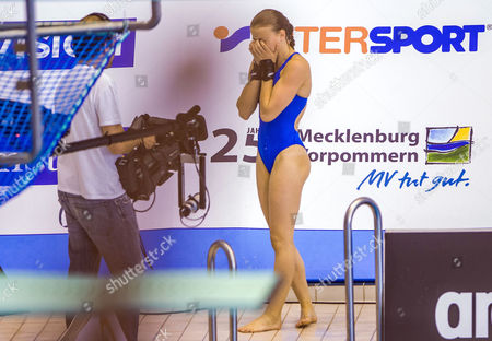France's Laura Marino Reacts After Her Last Dive in the Women's Platform Final of the European Diving Championships in Rostock Germany 10 June 2015 Germany Rostock