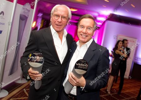 German Film Producers Wolf Bauer (l) and Nico Hofmann (r) Pose with Their Awards During the Entertainment Night in Munich Germany 19 November 2014 Bauer and Hofmann Received the 'Video Champion' Prizes in the Category 'Producer Award' Germany Munich