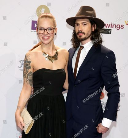 Swiss Singer Stefanie Heinzmann (l) and Her Brither Claudio Heinzmann Arrive For the 24th Echo 2015 Music Awards Ceremony in Berlin Germany 26 March 2015 Germany Berlin