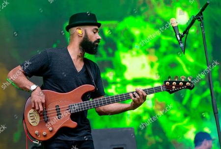 Bassist Ben Kenney of the Us Band Incubus Performs on Stage During a Concert at the Music Festival 'Rockavaria' in Munich (bavaria) Germany 29 May 2015 the Event Takes Place From 29 to 31 May 2015 Germany Munich