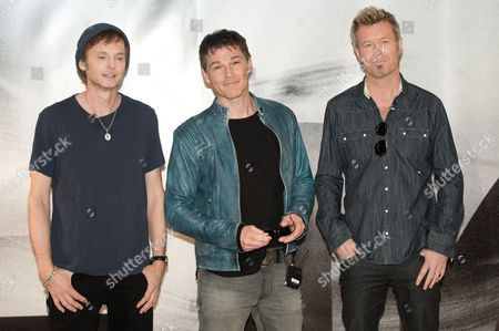 Pal Waaktaar-savoy (l-r) Morten Harket and Magne Furuholmen of the Norwegian Pop Band A-ha Pose in the Norwegian Embassy in Berlin Germany 25 March 2015 the Band Held a Press Conference Entitledá'a-ha Has Something to Say ' Germany Berlin