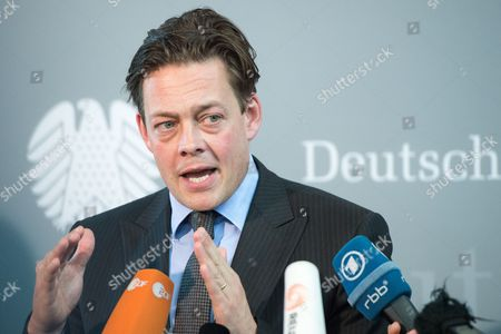 The Chairman of the Alliance 90/the Greens on the Nsa Investigative Committee Konstantin Von Notz Delivers a Statement Before the Public Meeting of the Nsaáinvestigative Committee in Berlin ágermany 11 June 2015 Germany Berlin