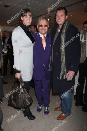 Karen Pickering, Elton John and Adam Wheatley