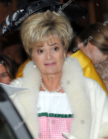 Gloria von Thurn und Taxis Looks on After the Wedding Ceremony of Her Daughter Princess Maria Theresia of Thurn and Taxis and Her Husband Hugo Wilson at St Joseph's Church in Tuzingen Germany 13 September 2014 Germany Tutzing