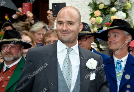 Albert 12th Prince of Thurn and Taxis Arrives For the Wedding of His Sister Princess Maria Theresia of Thurn and Taxis and Hugo Wilson at St Joseph's Church in Tuzingen Germany 13 September 2014 Germany Tutzing