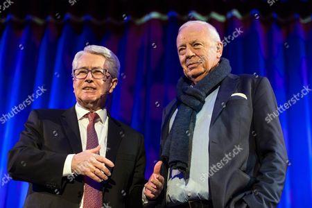 German Tv Host Frank Elstner (l) and German Journalist Paul Sahner (r) Present Sahner's Biography 'Merci Udo!' on Late Austrian Musician Udo Juergens in Rust Germany 02 February 2015 Germany Rust