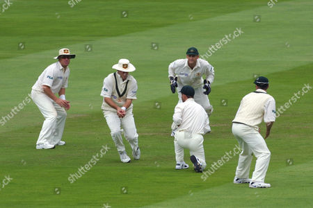 Cricket, Second Ashes Test, Lords - Mark Waugh of Australia catches Darren Gough at second slip, to end the England innings and take the world record number of Test match catches.