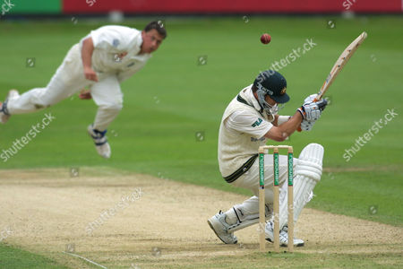 Cricket, Second Ashes Test, Lords - The England pace bowler Darren Gough unleashes a bouncer to the Australian batsman Mark Waugh, who went on to score a century.