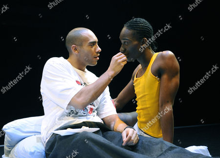 'Wig Out' play at the Royal Court Theatre - Nathan Stewart-Jarrett and Alex Lanipekun
