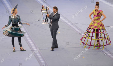 Former German International and 1997 Champions League Winner Karl-heinz Riedle Carries the Champions League Trophy Prior to the Uefa Champions League Final Soccer Match Between Juventus Fc and Fc Barcelona at Olympic Stadium in Berlin Germany 06 June 2015 Germany Berlin