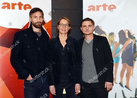 German Actor Benjamin Sadler (l-r) Director German Anna Justice and German Actor Florian Lukas Pose During a Press Conference of Franco-german Tvánetwork Arte For the Presentation of the Movies 'Das Gespaltene Dorf' (lit 'The Divided Village') and 'Tag Der Wahrheit' (lit 'Day of the Truth') Which Will Be Aired on 08 and 09 January in Berlin Germany 05 December 2014 Germany Berlin