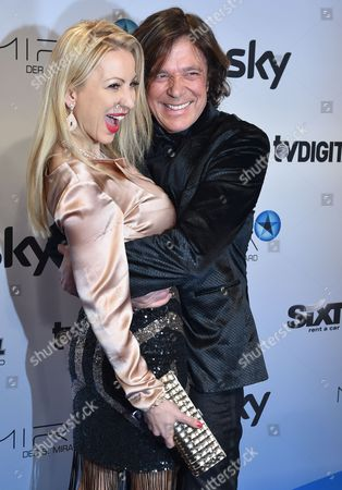 German Singer Juergen Drews and His Wife Ramona Drews Pose Upon Their Arrival at the 6th Mira Awards in Berlin Germany 29 January 2015 Pay Tv Channel Sky Germany Awards the Prize For Outstanding Achievements Germany Berlin