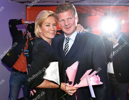 Retired German Soccer Player Stefan Effenberg (r) and German Model Claudia Effenberg (l) Pose For Photographs During the Award Ceremony of the Sixth Mira Awards in Berlin Germany 29 January 2015 the Television Channel Sky Germany Presented the Awards For Outstanding Achievements in the Pay-tv Broadcasters Germany Berlin