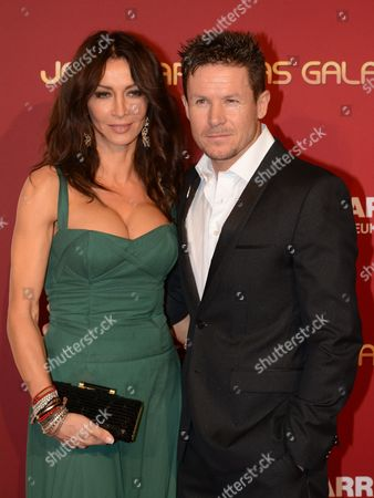 Austrian Skydiver Felix Baumgartner (r) and Hungarian Model Sylvie Bodi Pose on the Red Carpet of the 20th Jose Carreras Gala at the Leisure Park Europapark in Rust Germany 18 December 2014 Celebrities Raised Funds For the Fight Against Leukemia at the Charity Event Germany Rust