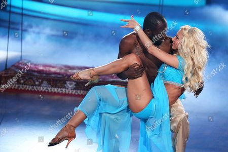 Ghanaian-born German Former Soccer Player Hans Sarpei and Austrian Professional Dancer Kathrin Menzinger Perform During the Rtl Television Program 'Let's Dance' in Cologne Germany 17 April 2015 Germany Cologne