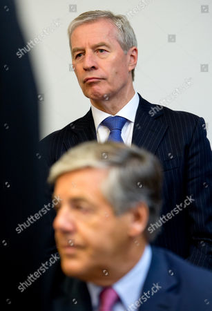 Former Deutsche Bankáceo Josef Ackermann (bottom) and Current Co-ceo Juergen Fitschen (top) Arrive to the Courtroom in the Regional Court in Munich ágermany 09 June 2015 Current Co-ceo Fitschen and Four Former Managers of Deutsche Bank Are on Trial For Attempted Fraud in the Kirch Trial Germany Munich