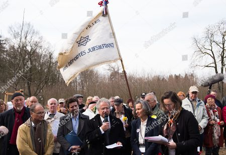 Laurent Dassault (m) French Businessman and Grandson of Former Concentration Camp Prisoner Marcel Bloch Speaks During a Commemorative Event on the 70th Anniversary of the Liberation of Buchenwald Concentration Camp at the Blutstrasse Near Weimar Germany 11 April 2015 on 11 April 1945 Us Troops Arrived at the Camp Which Held 21 000 Prisoners Germany Weimar