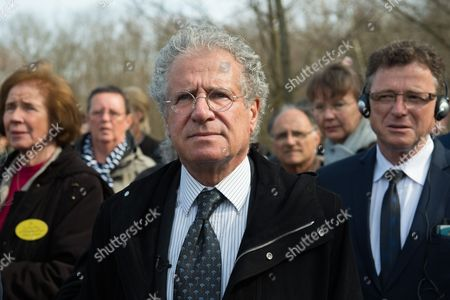 Laurent Dassault French Businessman and Grandson of Former Concentration Camp Prisoner Marcel Bloch at a Commemorative Event on the 70th Anniversary of the Liberation of Buchenwald Concentration Camp at the Blutstrasse Near Weimar Germany 11 April 2015 on 11 April 1945 Us Troops Arrived at the Camp Which Held 21 000 Prisoners Germany Weimar