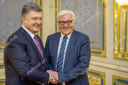 German Foreign Minister Frank-walter Steinmeier (r) Meets Ukranian President Petro Poroschenko in Kiev Ukraine 29 May 2015 Russia Provoked the Violent Conflict in Eastern Ukraine Through a 'Course of Confrontation' German Foreign Minister Frank-walter Steinmeier was Reported As Saying in Kiev Ukraine Kiev