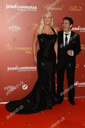 Mexican Singer Placido Domingo Jr (r) Arrives with an Unidentified Guest at the Jose Carreras Gala in Berlin Germany 14 December 2016 Germany Berlin