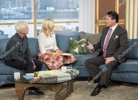 Phillip Schofield and Holly Willoughby with Gary Edwards