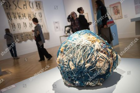Stock Image of An Artwork Entitled 'Ball' by Judith Scott on Show at the Exhibition 'Touchdown - an Exhibition with and About People with Down's Syndrome' in the Bundeskunsthalle Inábonn ágermany 28 October 2016 the Exhibition Runs From 29 October 2016 to 12 March 2017 Germany Bonn