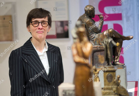 Scottish Author a L Kennedy Poses During a Press Briefing Next to Figurines Depicting German Writer Henrich Heine in Duesseldorf Germany 09 December 2016 Kennedy is to Receive the Heinrich Heine Prize on 11 December 2016 the Literature Award is Presented Every Two Years and is Named After German Poet Christian Johann Heinrich Heine (1797-1856) Germany Duesseldorf