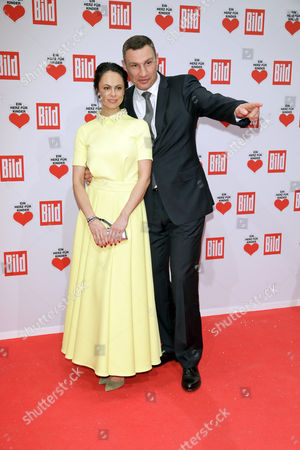 Vitali and Natalia Klitschko Arrive For the Charity Gala 'Ein Herz F³r Kinder' (a Heart For Children) in Berlin Germany 03 December 2016 German Television Channel Zdf and Newspaper 'Bild' Collected Donations For Children's Charity Organizations in Germany and the Whole World Germany Berlin