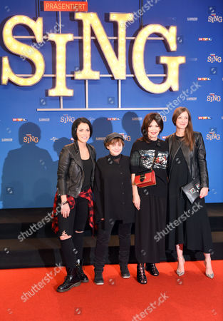 German Singer (l-r) Stefanie Kloss and Actresses Katharina Thalbach Iris Berben and Alexandra Maria Lara Arrive at the Premiere of 'Sing' in Cologne Germany 27 November 2016 the Animation Film Opens in German Cinemas on 08 December Germany Cologne