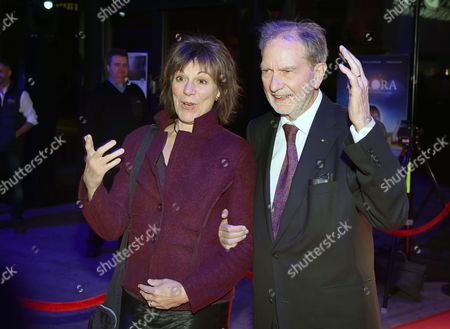 Stock Image of German Filmmaker Edgar Reitz (r) Arrives with His Wife Salome Kammer at the Ceremony of the German Directors' Prize 'Metropolis' in Munich Germany 06 November 2016 Reitz Will Be Honored For His Lifetime Achievement Germany Munich