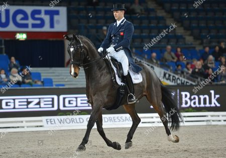 Dressage Rider Spencer Wilton From Great Britain and Her Horse Super Nova 2 in Action During the International Equestrian Tournament at the Schleyerhalle in Stuttgart Germany 18 November 2016 Germany Stuttgart