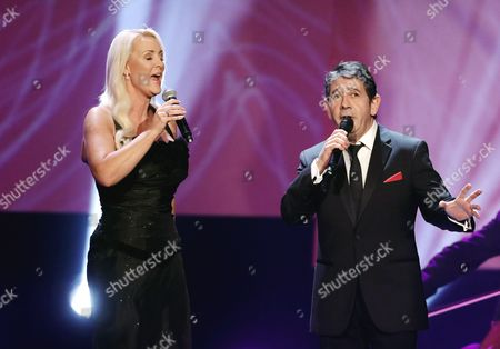 Mexican Singer Placido Domingo Jr (r) and German Singer Friederike Krum (l) Perform at the Jose Carreras Gala in Berlin Germany 14 December 2016 the Event is Held to Raise Money For Charity Germany Berlin
