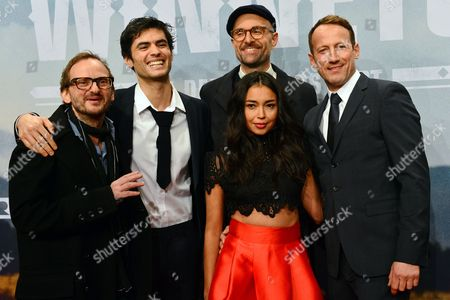 Actors (l-r) Milan Peschel Nik Xhelilaj Director Philipp Stoelzl Iazua Larios and Wotan Wilke Möhring Pose For Photos During a Photocall For Three-part German Television Series 'Winnetou' in Berlin Germany 14 December 2016 the Show Depicts the Story of the Friendship Between a German Immigrant and an Apache Chief Germany Berlin