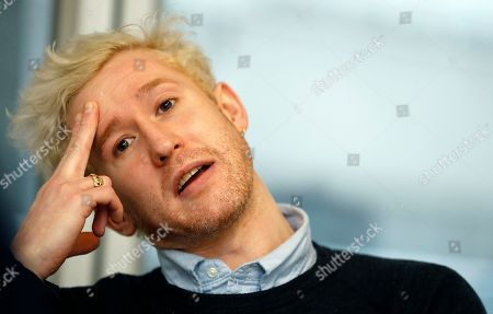 Stock Picture of British actor Adam Gillen talks to The Associated Press in London, . Britain's National Theatre has a sold-out hit with a revival of Peter Shaffer's play about bad-boy genius Wolfgang Amadeus Mozart, played by Gillen, and his jealous rival Antonio Salieri, played by Lucian Msamati, composer to the 18th-century Viennese court