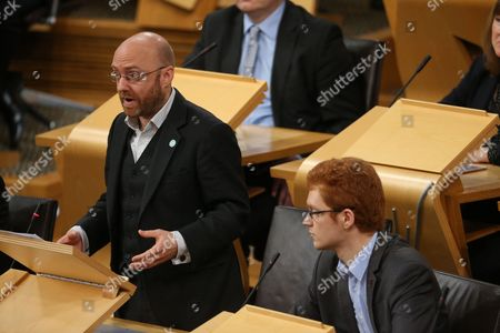 Patrick Harvie, Co-convener of the Scottish Greens, and Ross Greer