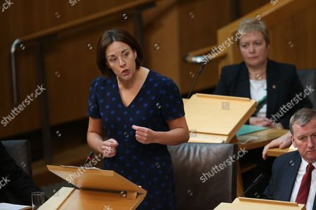 Kezia Dugdale, Leader of the Scottish Labour Party, Rhoda Grant and Alex Rowley, Deputy Leader of the Scottish Labour Party