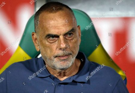 Ghana head coach Avram Grant looks on ahead of the African Cup of Nations semifinal soccer match between Cameroon and Ghana at the Stade de Renovation, in Franceville, Gabon
