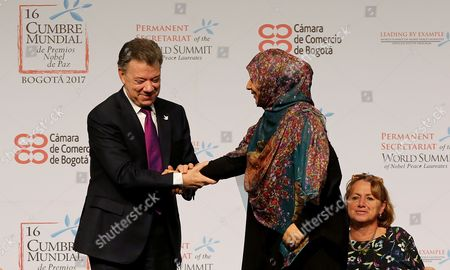 Juan Manuel Santos and Tawakel Karman