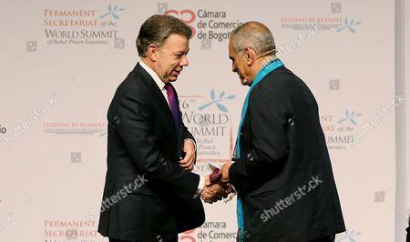 Juan Manuel Santos and Jose Ramos-Horta