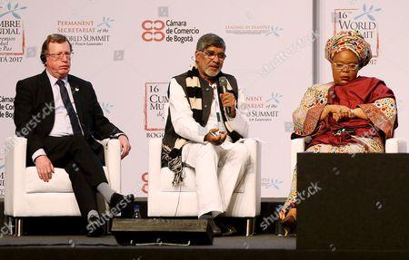 Kailash Sthyarthi, David Trimble and Leymah Gbowee