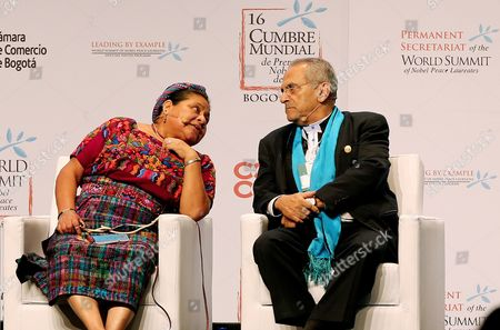 Rigoberta Menchú and Jose Ramos-Horta