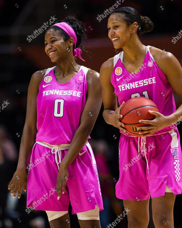 Jordan Reynolds #0 and Jaime Nared #31 of the Tennessee Lady Volunteers during the NCAA basketball game between the University of Tennessee Lady Volunteers and the Louisiana State University Lady Tigers at Thompson Boling Arena in Knoxville TN Tim Gangloff/CSM