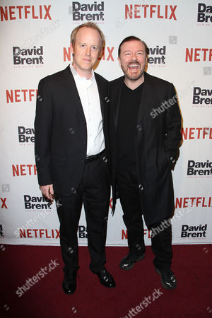 Ian Bricke (Director of Content Acquisition; NETFLIX) and Ricky Gervais (Writer, Director)