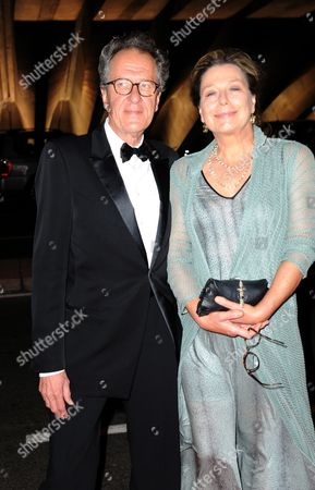 Australian Actor Geoffrey Rush (l) and Wife Jane Menelaus Arrive at the Inaugural Aacta Awards at the Sydney Opera House in Sydney Australia 31 January 2012 the Aacta (academy of Cinema and Television Arts) Awards Formerly the Afi Awards Recognise Work Across the Australian Film Television Documentary and Shorts Production Industries Australia Sydney