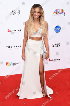 Australian Singer Samantha Jade Gibbs Arrives at the 28th Annual Aria Awards at the Star in Sydney Australia 26 November 2014 Australia Sydney