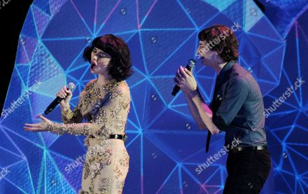 Australian-based Singers Wouter De Backer a K a Gotye (r) and Kimbra Johnson Perform at the 25th Anniversary Aria Awards in Sydney Australia 27 November 2011 the Aria Awards Recognise the Achievements of Australian Artists Across All Music Genres Australia Sydney